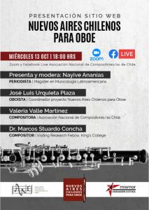 AFICHE Nueos Aires Chilenos para Oboe